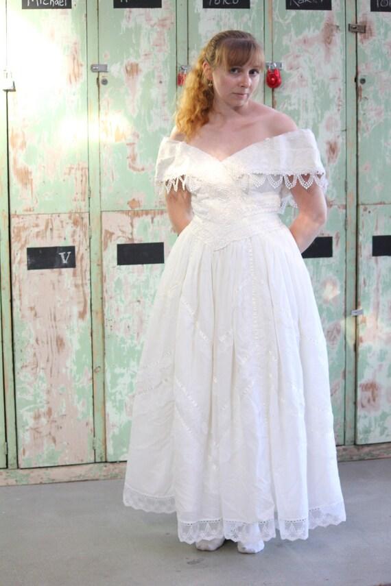 jessica mcclintock vestido de novia escote fichú - boda