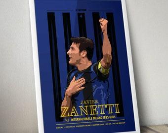 Javier Zanetti - Inter Milan Poster