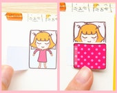 Kawaii Sleeping Plan Planner Planning Sticker Stickers for Erin Condren Daily Personal Amelie #0469