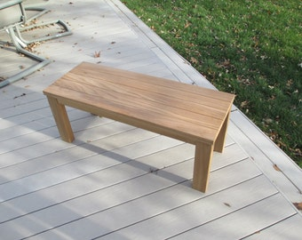 Custom solid Teak coffee tables / benches bench