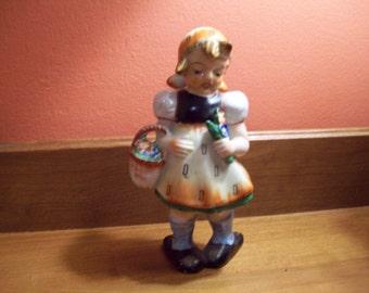 Vintage Large Hand Painted Hummel-Like Little Girl Figurine - Made in Japan