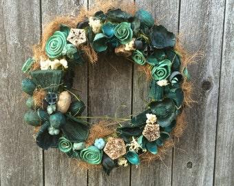 Rustic Ocean Mix Wreath Blue Wreaths Potpourri Wreaths All Year Wreaths Wreaths