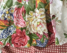 Authentic original Ralph Lauren garden floral pattern full/double dust ruffle bedskirt
