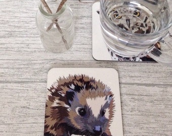 Hedgehog coaster. Wildlife. British. Countryside. Nature coaster