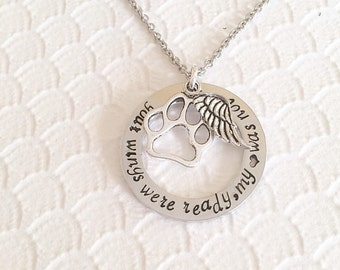 Pet loss - Hand stamped necklace - Pet memorial jewelry - dog or cat loss - Unique jewelry - Personal hand stamped necklace - Custom gif