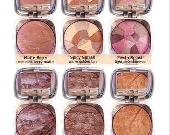Organic Mineral Bronzer, Blush, Highlighter, Copper, Golden Tan, Shimmer, Matte