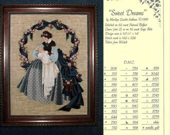 Lavender & Lace:  Sweet Dreams Cross Stitch Chart
