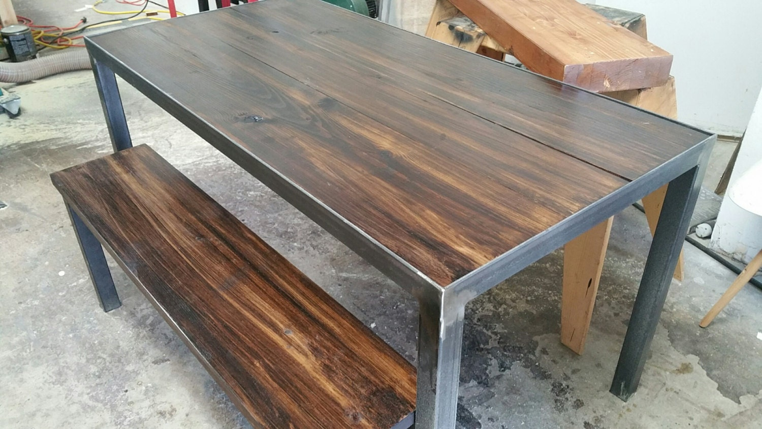 Angle Iron Dining Table