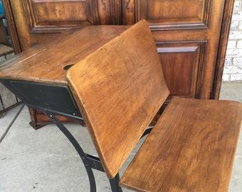 School house desk Oak great condition