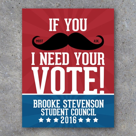 Election Campaign Poster 2 – Printable Moustache Poster ...