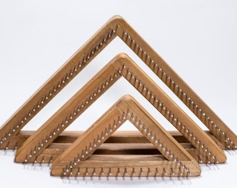 Triangle Loom, Cherry Pin Loom, Tri Weaving Loom, Small Tri Loom, Blue Butterfly Triangle Pin Loom, 4 inch Triangle Loom, 6 inch , 8 Inch