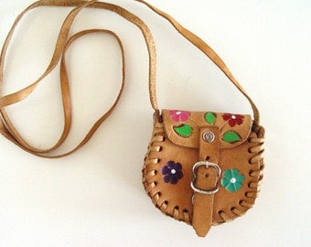 Vintage  Leather Small Purse.