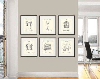 Wine Print Patent Print Wine Art Print Wine Decor Bar Decor Bar Art Print  Patent Poster