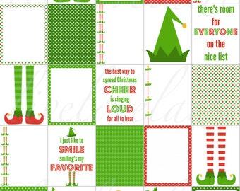 ELVES SANTA'S Little HELPERS for use with Erin Condren Life Planner (vertical) - digital - Instant Download