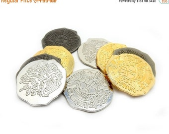 10% Xmas in July Pirate Coins BEST DEAL on this Treasure - 12 coins  (RK49B5-01)