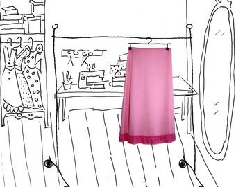 Pink Lycra Underskirt, Cotton Candy Skirty, House of Dots
