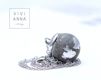 Timeless Grace III (concrete silver necklace) - k345
