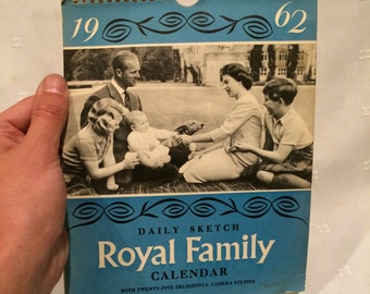 Vintage Royal Family Calendar
