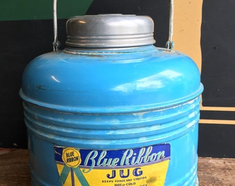 1940's Blue Ribbon Porcelian Lined Cooler Found in original box