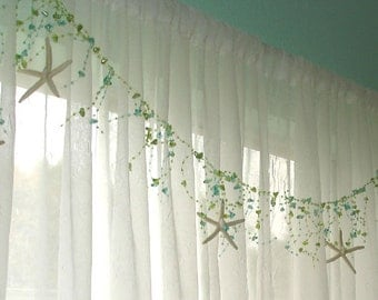 seashell christmas garland starfish garland beaded garland beach shower curtain beach decor