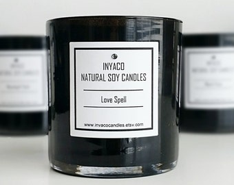 Love Spell Soy Candle 12oz Glass Jar