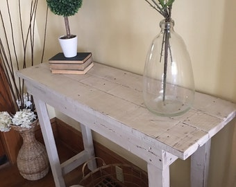 Entry table/Wood table/Entryway table/Entry furniture/Farmhouse table/Console table/Buffet table/Accent table