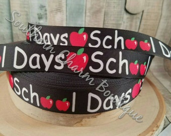 "3 yards of 7/8 "" school days grosgrain ribbon"