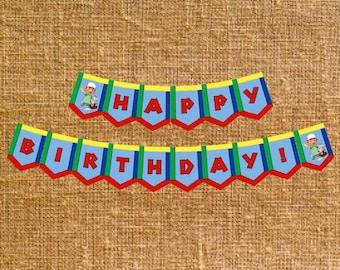 Handy Manny Happy Birthday Banner - Digital File - INSTANT DOWNLOAD