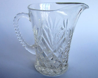 large 1930s pressed glass jug
