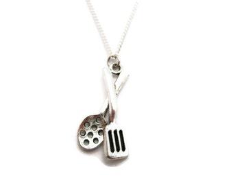 Spatula Necklace Utensils Necklace Spoon Necklace Cooking Necklace Food Jewelry Food Necklace Cooking Jewelry Spatula Jewelry Chef Gift