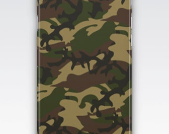 Case for iPhone 8, iPhone 6s,  iPhone 6 Plus,  iPhone 5s,  iPhone SE,  iPhone 5c,  iPhone 7  - Camouflage Khaki Green Patterned