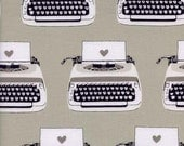 Fat Quarter Type Writers in Black and White --  Cotton and Steel House Designer Black and White Collection