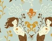 Heather Ross Mendocino for Windham Fabrics - Mermaids in Light Blue