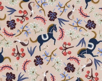 Carousel in Blush of Les Fleurs by Rifle Paper Company for Cotton and Steel