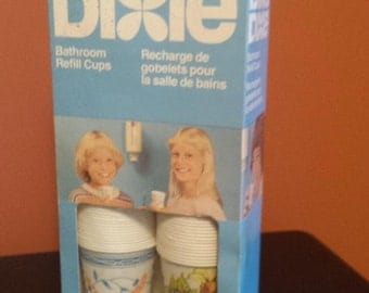Vintage Unopened Box DIXIE CUP Refills. 200 Cups