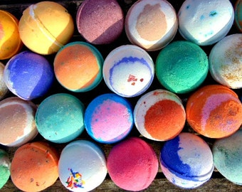 Bath bombs, 8 XL bath bombs -Made with Organic Oils. You choose the scent. Wholesale bath bombs,  Tennis ball size bath bombs, bath bomb