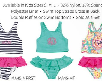 Monogrammed Kid Swim Suit