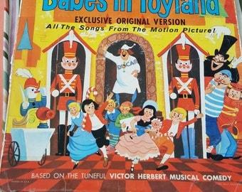 Babes in Toyland 1961 Walt Disney Records - vintage Disney - disneyland records - vintage vinyl - collectable disney - Disney vintage lp