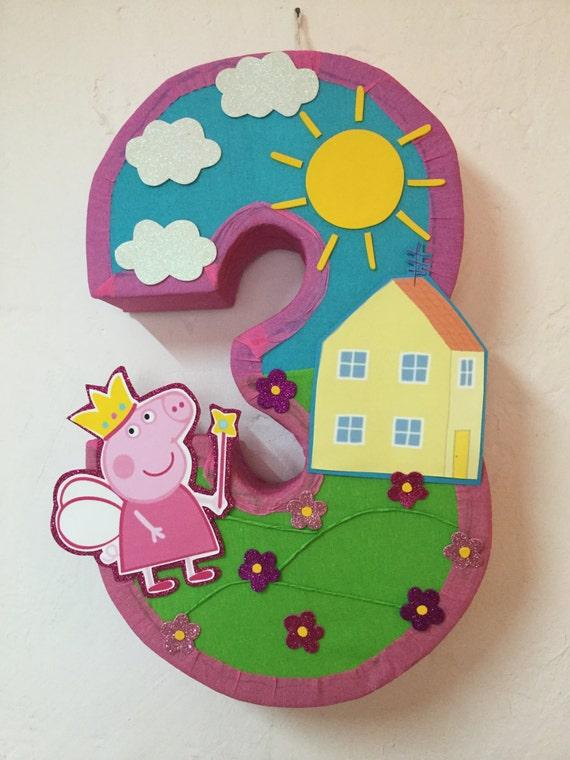 Fairy peppa pig pi ata peppa pig pinata peppa pig birthday for Decoration pinata