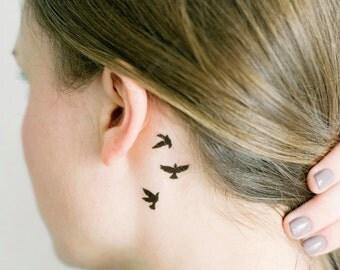 2 Sets Flying Birds Temporary Tattoos- SmashTat
