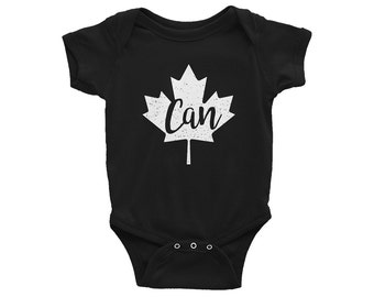 Canada One-Piece // Ottawa Bodysuit // Baby Shower Gift // Gender Neutral // Maple Leaf // Infant Gift // The Busy Bee