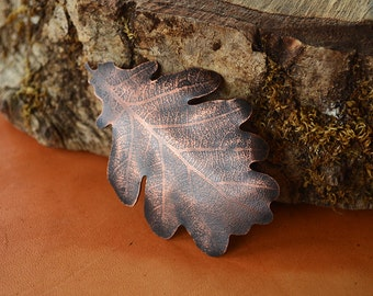 Copper Leaf Brooch & Pendant. One of a kind. Handmade