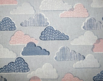Fabric - Sevenberry - cloud print linen.