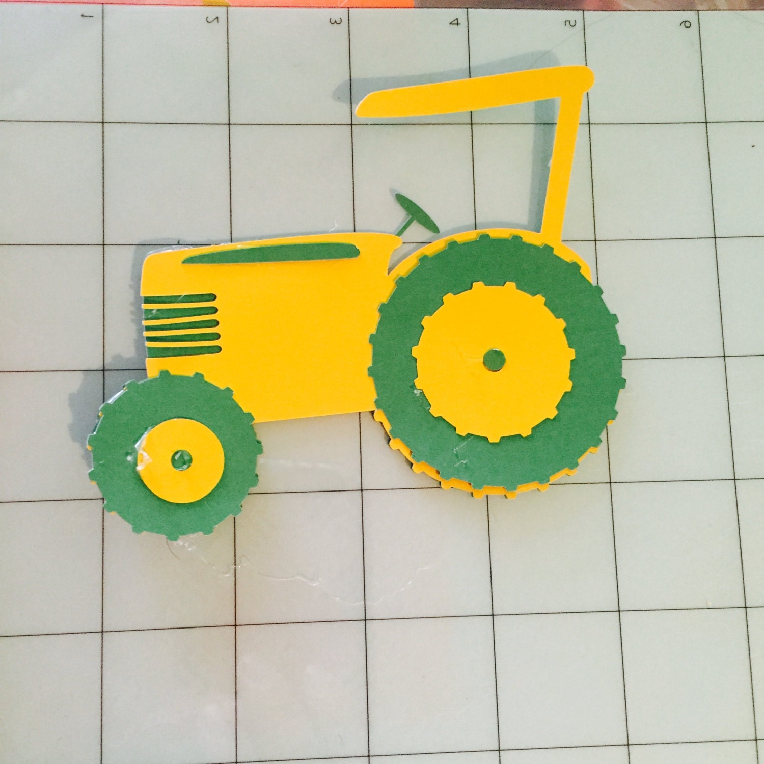 John Deere Tractor Cutouts : Paper tractor cutouts by kaylashumblecrafts on etsy
