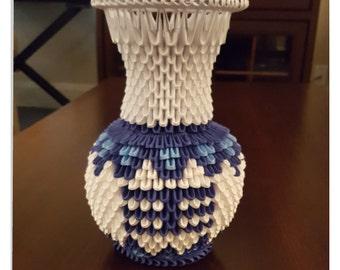 3D Origami Flower Vase