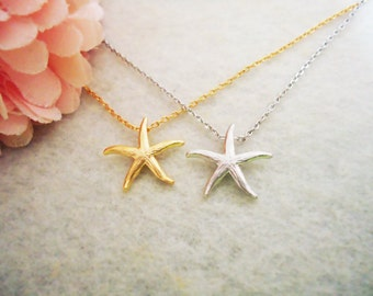 469. Starfish Pendant Necklace, Sea Star Starfish Pendant Necklace, choose your color