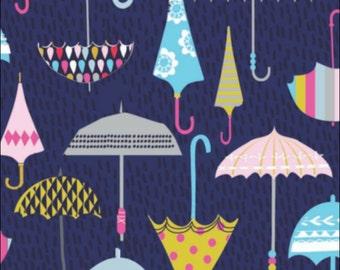 Cotton Fat Quarter Dashwood Rain or Shine Umbrellas
