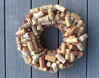 Wine Cork Wreath, wine lover, Christmas, wedding, birthday, handcrafted