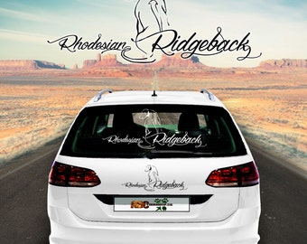 Car Sticker Dog Rhodesian Ridgeback 2