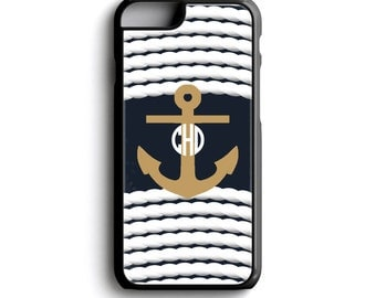 Anchor iPhone Case - Nautical Monogram iPhone 6 Case - Anchor Phone Case - Personalized iPhone 5c Case - Monogram phone case iPhone 7 Plus